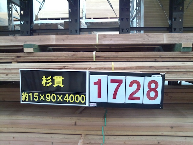 フェンスの横板