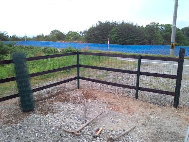 フェンスの金網