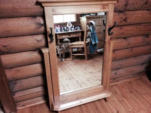 化粧台の鏡