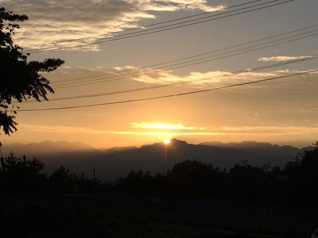 神々しい日の出