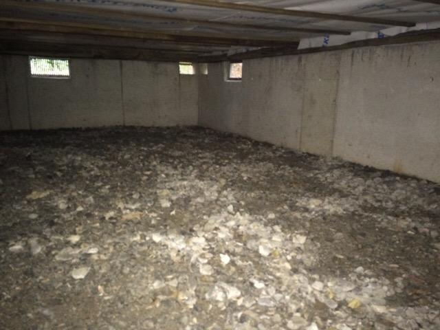ログハウスの床下