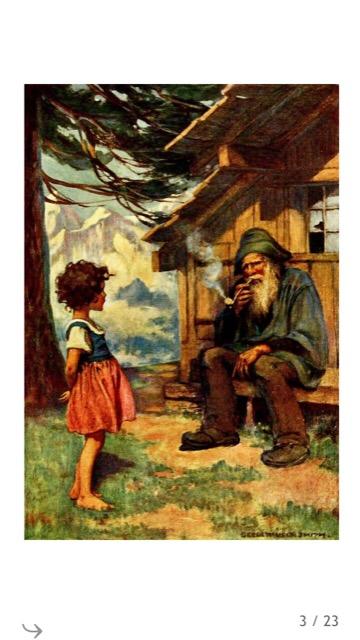 ハイジとおんじと山の小屋